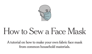 A Picture Linking to a New York Times PDF on how to sew a face mask.